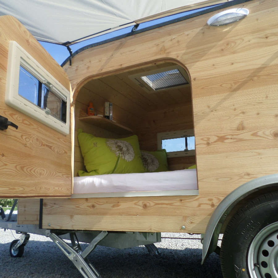 mini wohnwagen hersteller kleiner teardrop caravan