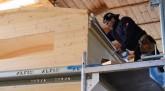 Dach Aufbau im Tiny Houses Bau