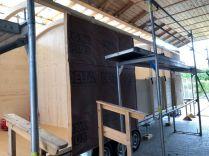 Tiny House Aufbau für die Dämmung und Isolierung