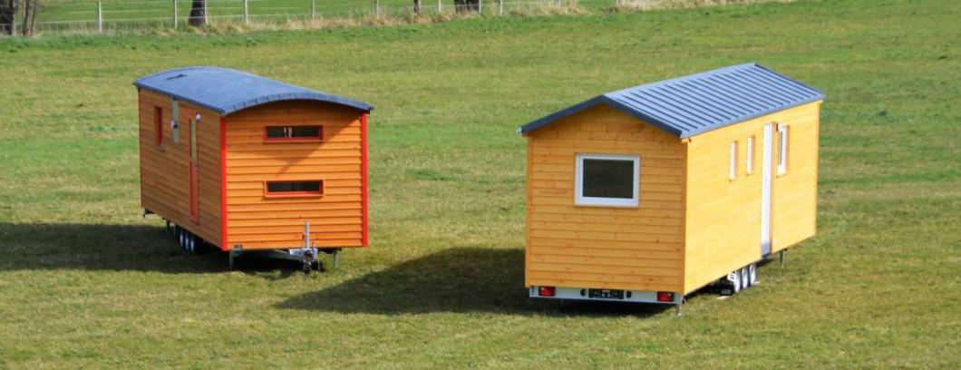 Tiny Houses Dachformen - Runddach und Satteldach