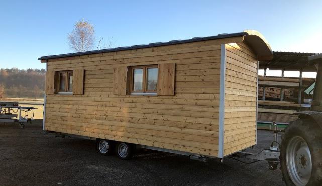 Innenbau vom Tiny House für gewerbliche Nutzung