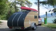 Wohnwagen aus Holz mit unserem Mini-Caravan