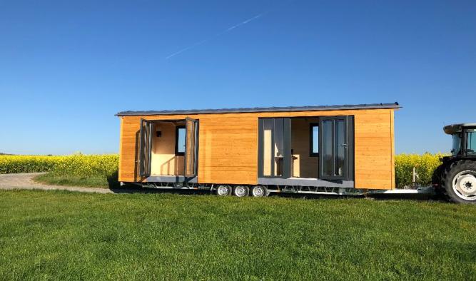 Tiny House als Campingwagen vom Tiny Houses Wagenbau Pletz