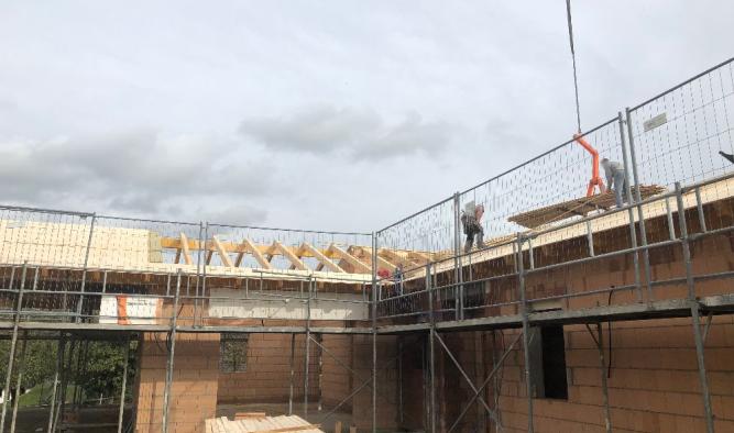 Einfamilienhaus - Dachstuhl beim Familienhaus bauen lassen