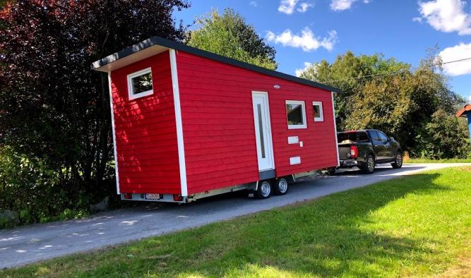 Tiny House mit Pultdach in der Tiny Houses Werkstatt