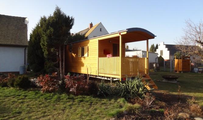 Zirkuswagen mit Veranda kaufen vom Hersteller für Tiny Häuser