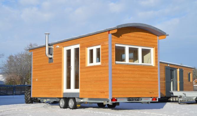 Tiny House Modulbau mit Panoramafenster